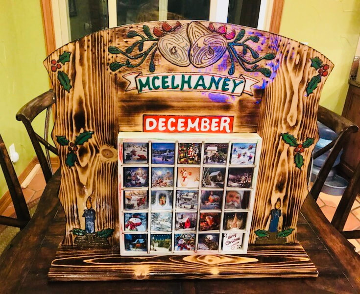 Custom, hand-crafted Advent Calendar